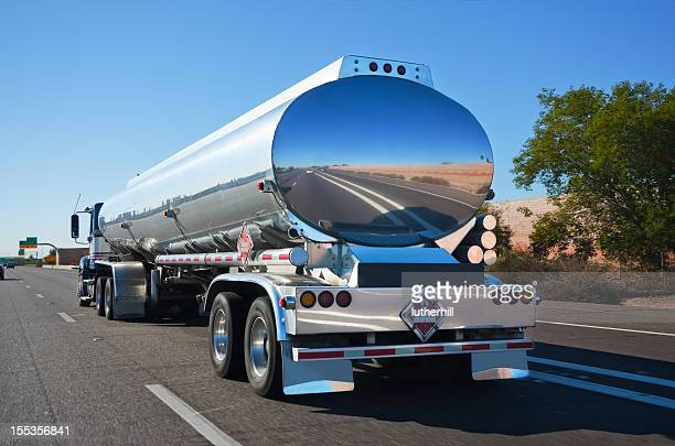 tanker truck on a highway