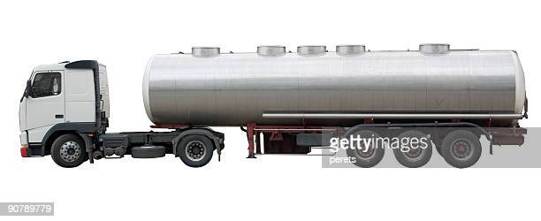 tanker truck(clipping path included) - tanker stock photos and pictures