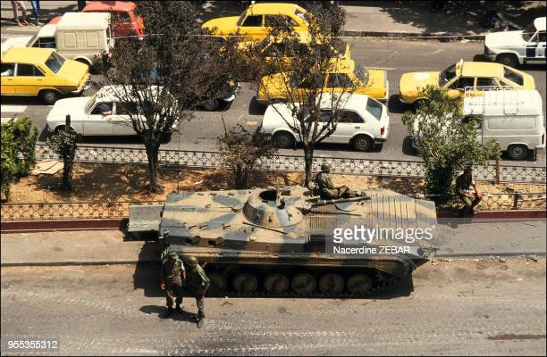 Tanks at Place du 1er Mai in Algiers
