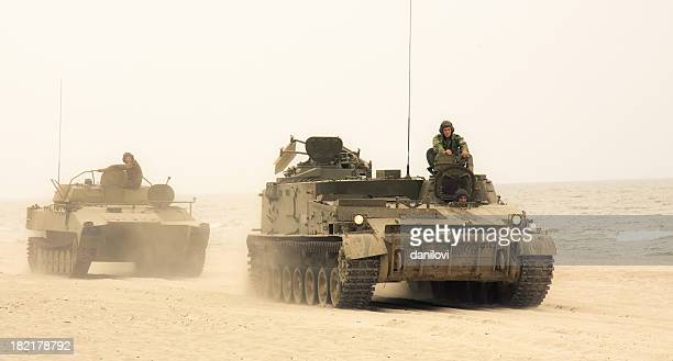 tanks convoy - armored tank stock photos and pictures
