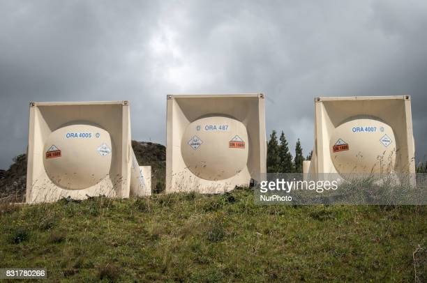 Tanks of toxic chemicals used to extract precious metals from soil in the Yanacocha mine in Cajamarca Peru Photo taken 14 March 2012Cajamarca Peru is...
