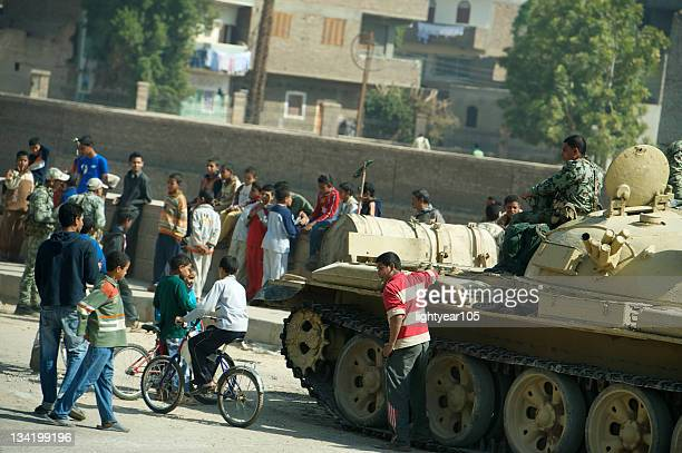 Tanks On The Streets Of Luxor, Egypt