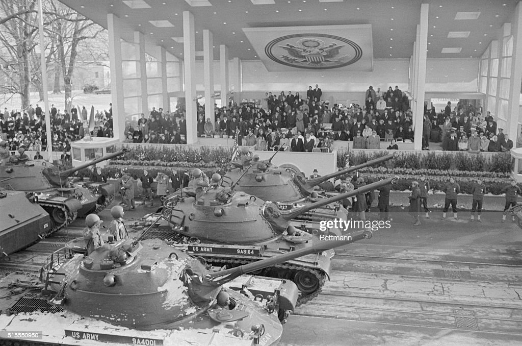 US Army Tanks in Inaugural Parade : News Photo