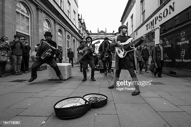 CONTENT] Tankus the Henge busking live music performance on the streets of Bath