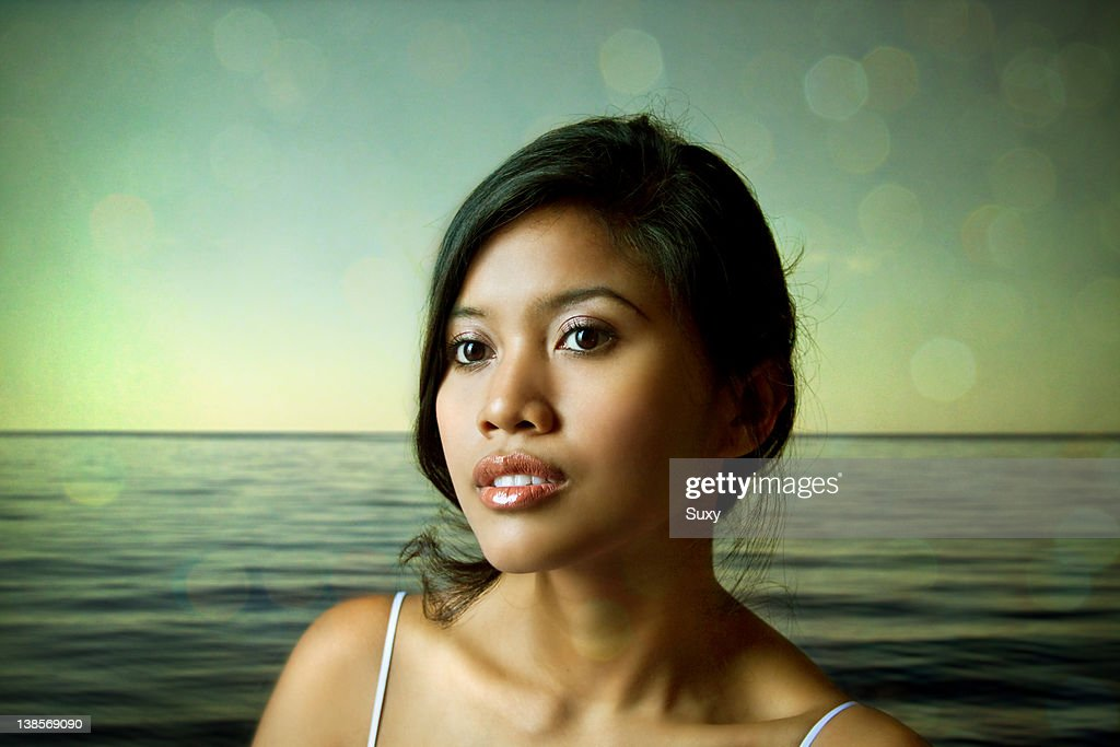 Tanned Indonesia woman : Stockfoto