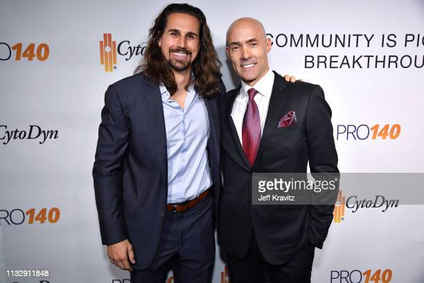 Tanner Anderson and Chris Clark attend CytoDyn's Pro 140 Awareness Event for HIV and Cancer Prevention at The Roosevelt Hotel in Hollywood on...