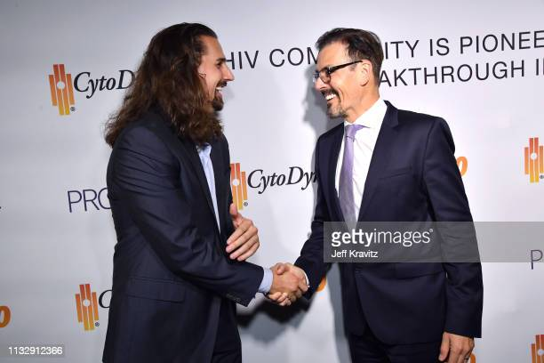 Tanner Anderson and Dr Richard G Pestell attend CytoDyn's Pro 140 Awareness Event for HIV and Cancer Prevention at The Roosevelt Hotel in Hollywood...