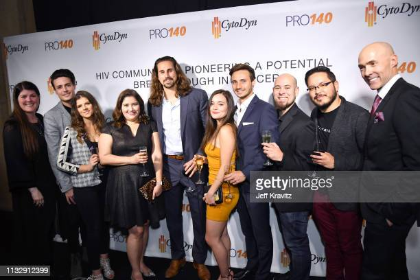 Tanner Anderson Chris Clark and guests attend CytoDyn's Pro 140 Awareness Event for HIV and Cancer Prevention at The Roosevelt Hotel in Hollywood on...