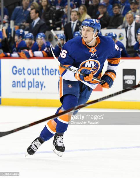Tanner Fritz of the New York Islanders skates during the third period against the Columbus Blue Jackets at Barclays Center on February 3 2018 in New...