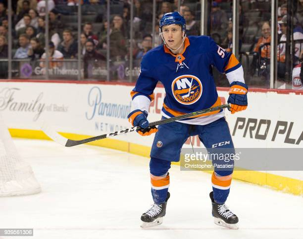 Tanner Fritz of the New York Islanders skates during the third period against the Montreal Canadiens at Barclays Center on March 2 2018 in New York...