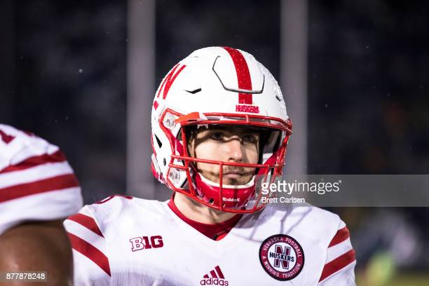Tanner Lee of the Nebraska Cornhuskers walks the sideline during the second half against the Penn State Nittany Lions on November 18 2017 at Beaver...