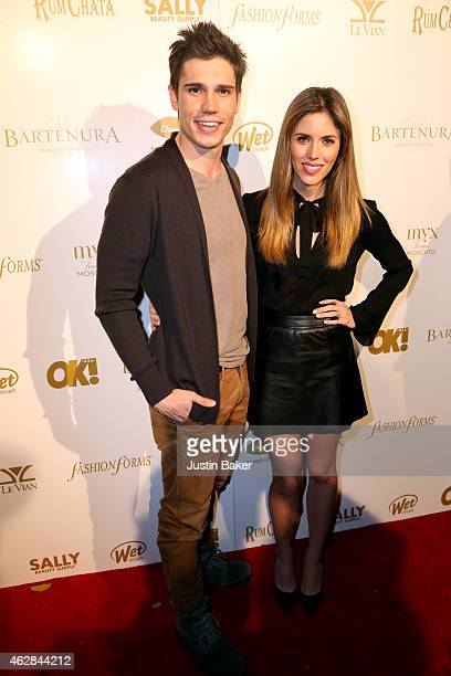 Tanner Novlan and Kayla Ewell attend the OK 2015 Pre GRAMMY Party at Lure on February 5 2015 in Hollywood California