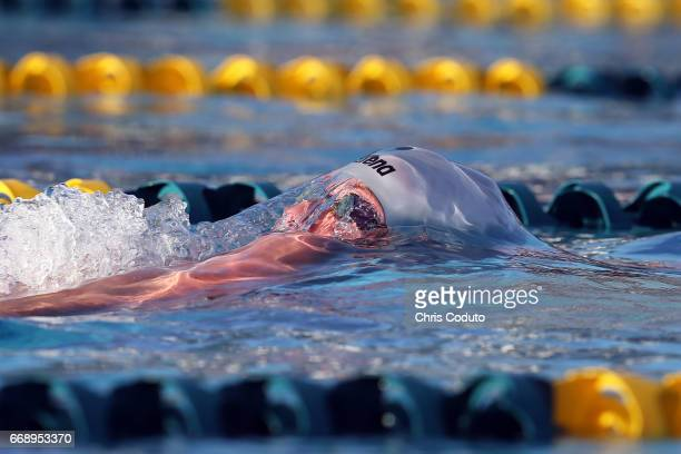 Tanner Olson competes in the finals of the men's 200 meter individual medley on day three of the Arena Pro Swim Series Mesa at Skyline Aquatic Center...