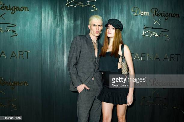 Tanner Reese and Liv Solo attend Dom Perignon Last Supper Party Hosted By Lenny Kravitz And Alan Faena on December 04 2019 in Miami Florida