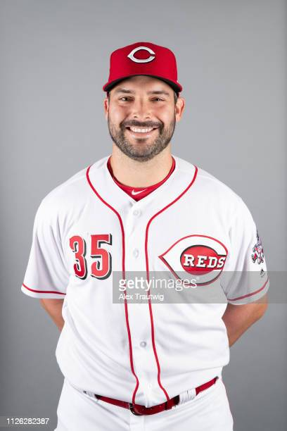Tanner Roark of the Cincinnati Reds poses during Photo Day on Tuesday February 19 2019 at Goodyear Ballpark in Goodyear Arizona