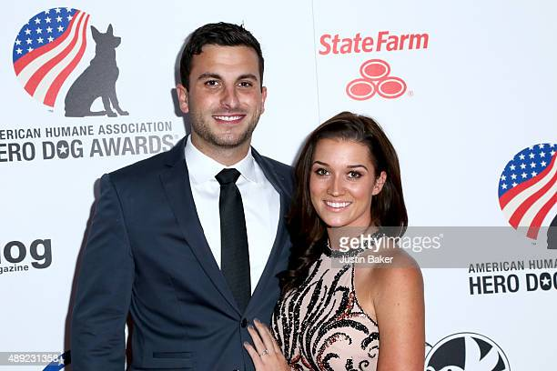 Tanner Tolbert and Jade Roper attend the 5th Annual American Humane Association Hero Dog Awards at The Beverly Hilton Hotel on September 19 2015 in...