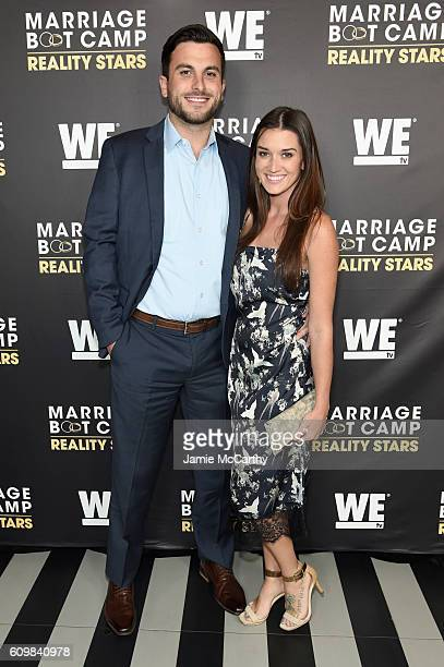 Tanner Tolbert and Jade Roper attend The Season 6 Premiere of Marriage Boot Camp Reality Stars at Up Down on September 22 2016 in New York City