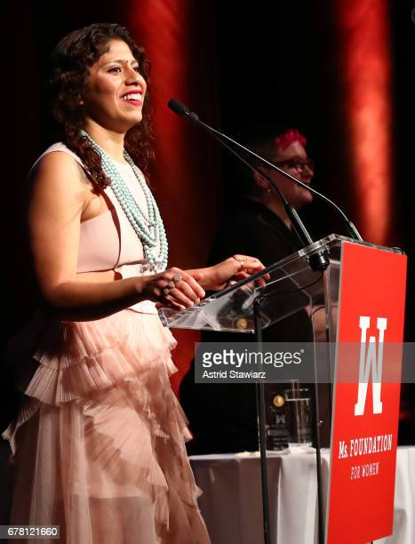 Tannia Esparza speaks onstage at the Ms. Foundation for Women 2017 Gloria Awards Gala & After Party at Capitale on May 3, 2017 in New York City.