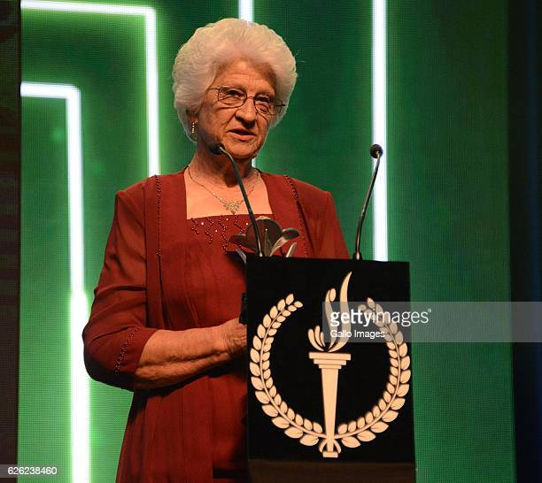 Tannie Anna Botha during the SA Sports Awards on November 27 2016 in Bloemfontein South Africa The 2016 SA Sport Awards recognise outstanding...