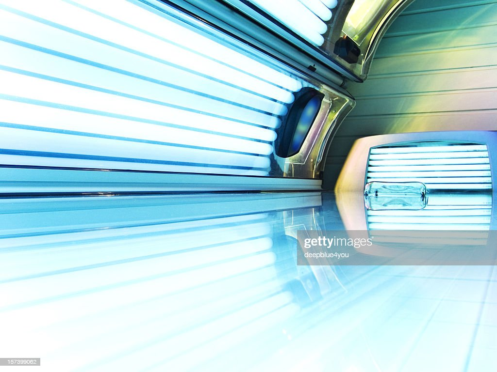 Tanning Bed Open And Lights Switched On Stock Photo Getty Images