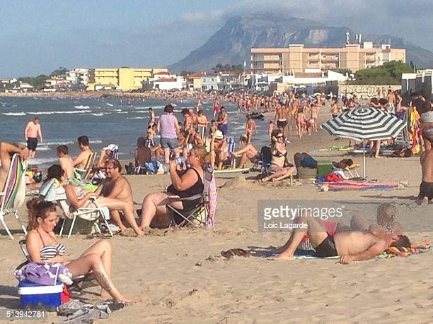 Tanning on the Beach, Oliva, Spain, August 2014