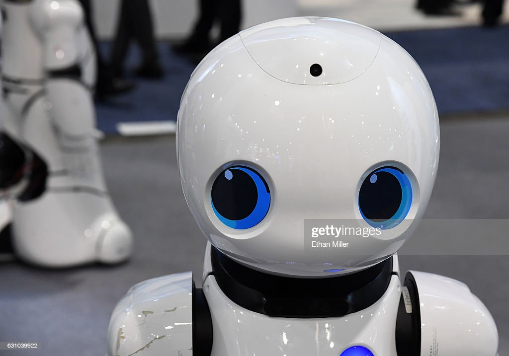 A Tanscorp UU smart robot is displayed at CES 2017 at the Sands Expo and Convention Center on January 5, 2017 in Las Vegas, Nevada. CES, the world's largest annual consumer technology trade show, runs through January 8 and features 3,800 exhibitors showing off their latest products and services to more than 165,000 attendees.