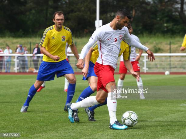 Tansel Taner of Northern Cyprus during Conifa Paddy Power World Football Cup 2018 Group B match between Northern Cyprus against Karpatalya at Queen...