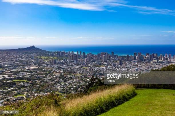tantalus lookout over honolulu, oahu island, hawaii islands