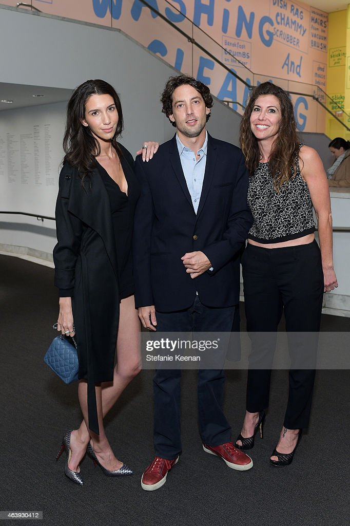 Tanya Akim, Adam Green and Gillian Wynn attend Hammer Museum's Provocations Presented In Partnership With Burberry - Members' Opening on February 19, 2015 in Los Angeles, California.