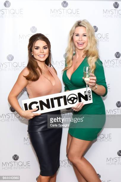 Tanya Bardsley and Esther Dee pose during the Ignition Card Launch at The Colony on April 10 2018 in Wilmslow England