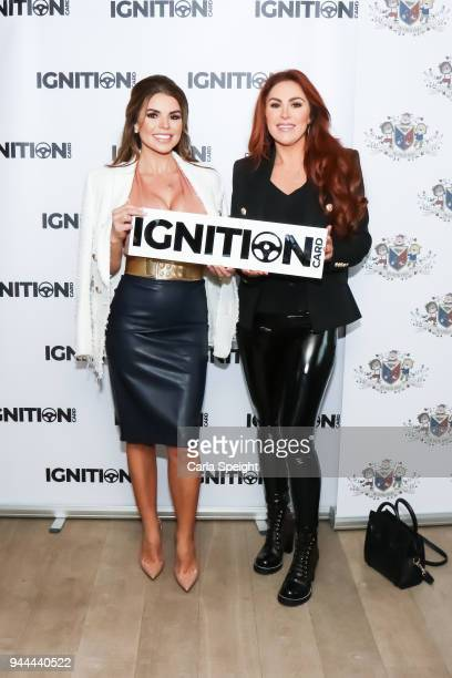 Tanya Bardsley and friend pose during the Ignition Card Launch at The Colony on April 10 2018 in Wilmslow England