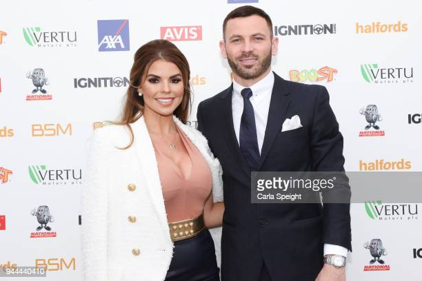 Tanya Bardsley and Phil Bardsley pose during the Ignition Card Launch at The Colony on April 10 2018 in Wilmslow England