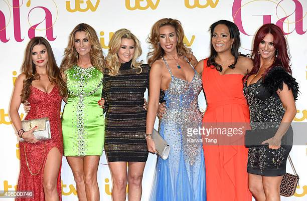 Tanya Bardsley Dawn Ward Leanne Brown Ampika Picktson Magali Gorre and Lauren Simons of the Real Housewives Of Cheshire attend the ITV Gala at London...