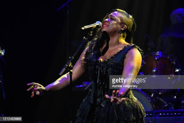Tanya BlountTrotter of The War and Treaty performs onstage during the Fourth Annual LOVE ROCKS NYC Benefit Concert For God's Love We Deliver at...