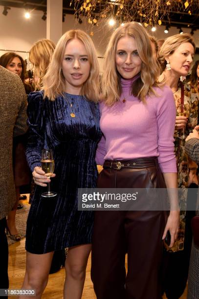 Tanya Burr and Donna Air attend the launch of the Bicester Village Christmas Experience on November 08 2019 in Bicester England