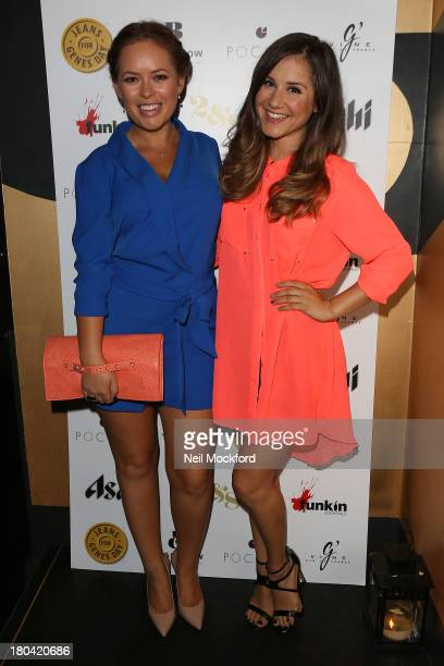 Tanya Burr and Electra Formosa attends the Pocket London a/w 2013 Launch Event at Morton's Club on September 12 2013 in London England