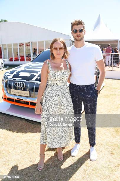 Tanya Burr and Jim Chapman attend the Audi Polo Challenge at Coworth Park Polo Club on June 30 2018 in Ascot England