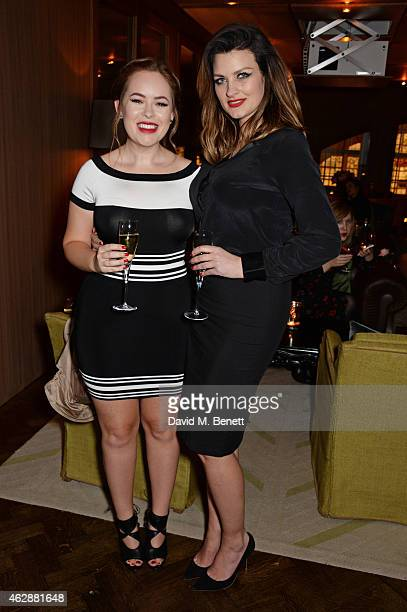 Tanya Burr and Pixiwoo attend the Lancome Loves Alma PreBAFTA party at Cafe Royal on February 6 2015 in London England