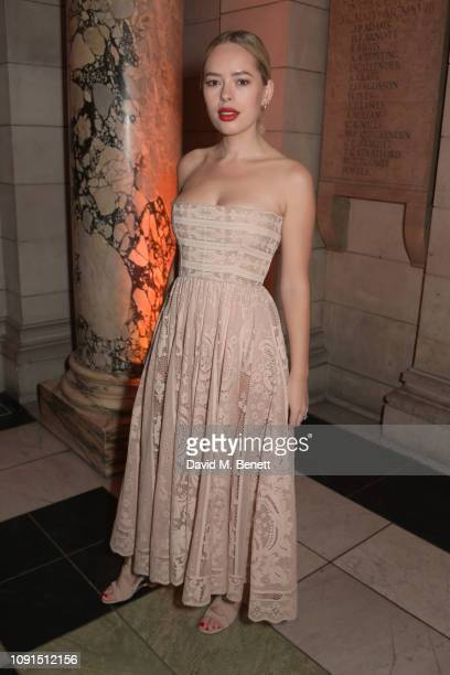 Tanya Burr attends a private view of the Christian Dior Designer of Dreams exhibition at The VA on January 30 2019 in London England