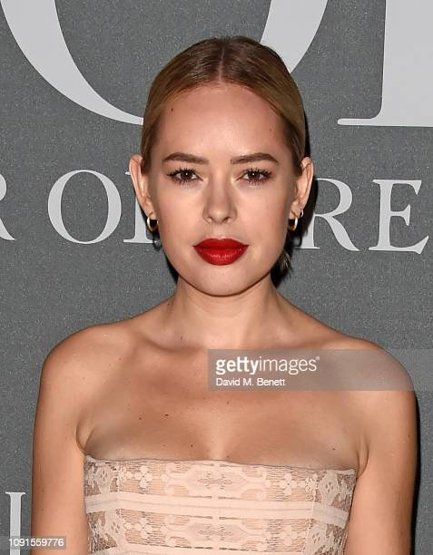 Tanya Burr attends a private view of the 'Christian Dior Designer of Dreams' exhibition at The VA on January 30 2019 in London England