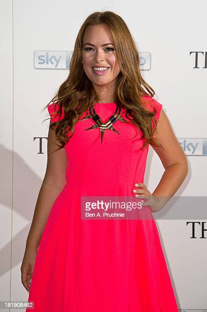 Tanya Burr attends a special screening and QA sessions for the new series of The Face at The Royal Opera House on September 26 2013 in London England