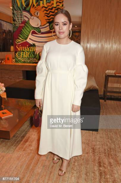 Tanya Burr attends Louis Vuittons Celebration of GingerNutz in Vogue's December Issue on November 21 2017 in London England