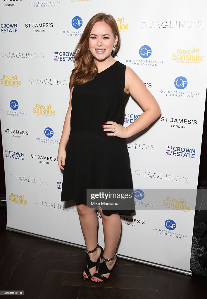 Tanya Burr attends the after party for the Fayre of St James Christmas Concert on November 27, 2014 in London, England.