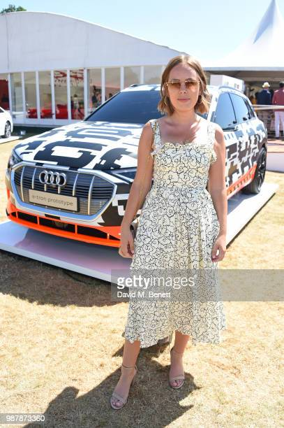 Tanya Burr attends the Audi Polo Challenge at Coworth Park Polo Club on June 30, 2018 in Ascot, England.