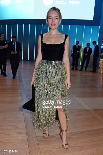 Tanya Burr attends the Bloomberg x Vanity Fair Climate Exchange gala dinner 2018 at Bloomberg London on December 11 2018 in London England