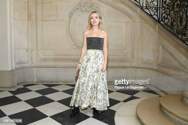Tanya Burr attends the Christian Dior Haute Couture Spring Summer 2019 show as part of Paris Fashion Week on January 21 2019 in Paris France