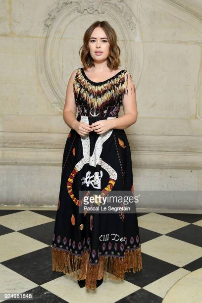Tanya Burr attends the Christian Dior show as part of the Paris Fashion Week Womenswear Fall/Winter 2018/2019 on February 27 2018 in Paris France