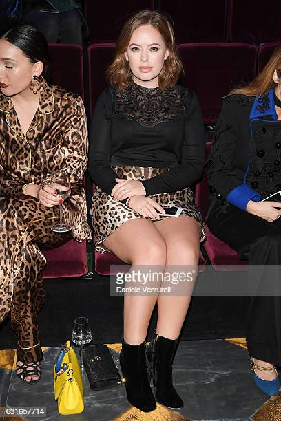 Tanya burr attends the Dolce Gabbana show during Milan Men's Fashion Week Fall/Winter 2017/18 on January 14 2017 in Milan Italy