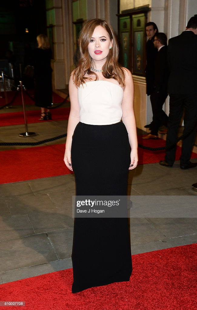 Tanya Burr attends the EE British Academy Film Awards at The Royal Opera House on February 14, 2016 in London, England.