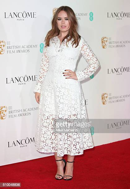 Tanya Burr attends the Lancome BAFTA nominees party at Kensington Palace on February 13 2016 in London England